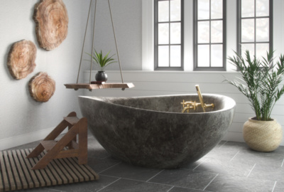 Earthen Luxury Bathroom